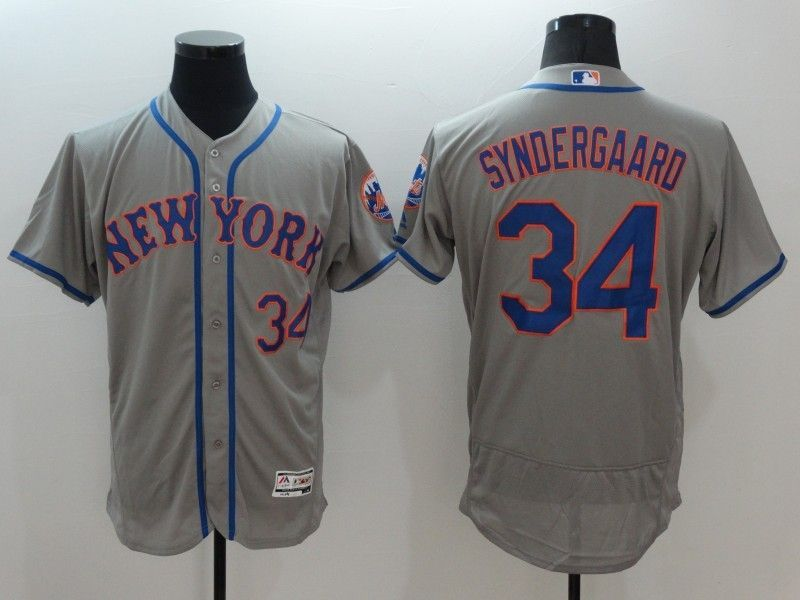 cheap for discount 953f2 8cd34 2016 MLB FLEXBASE New York Mets 34 Noah Syndergaard Grey ...