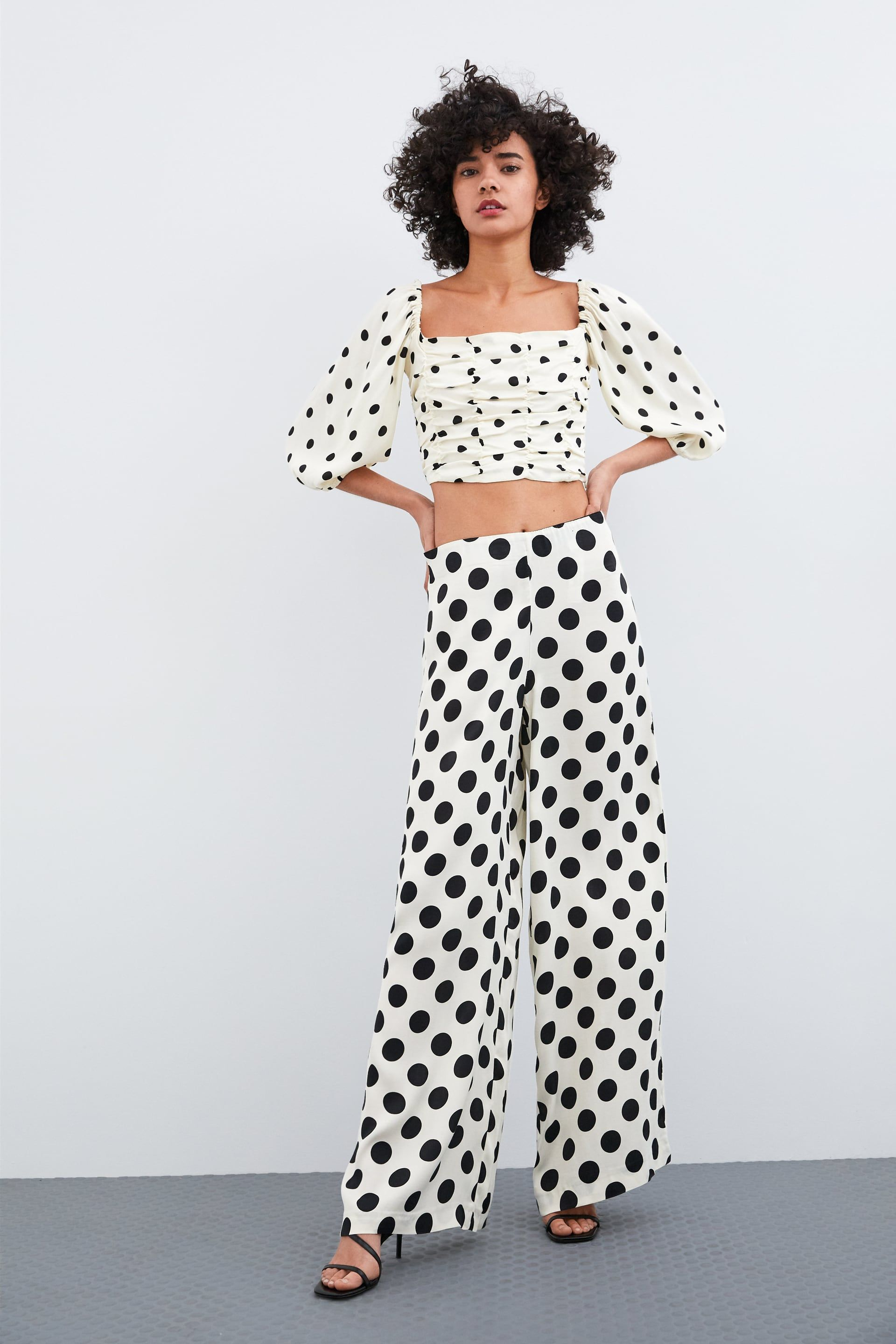 42d3cda1ce Cropped polka dot top in 2019 | Style Inspirations | Polka dot crop ...