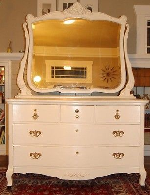 Antique Queen Anne Dresser With Mirror Ebay Dresser With