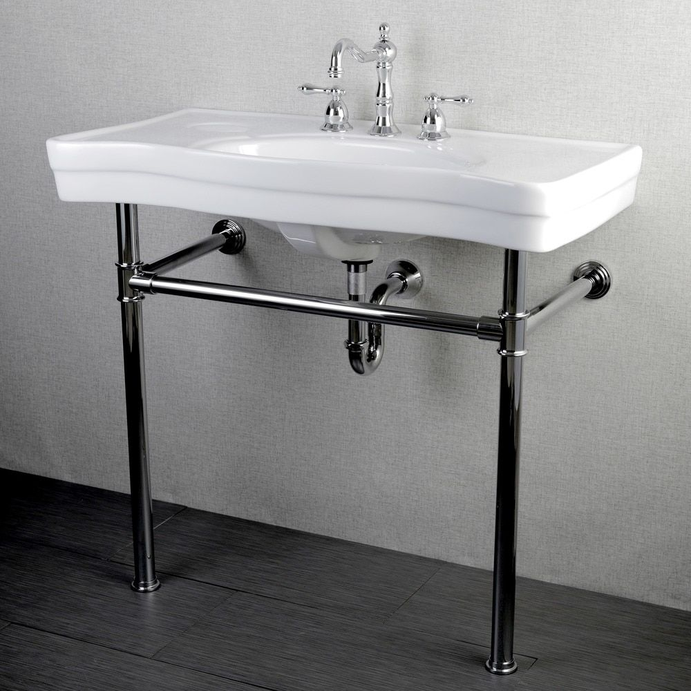 Imperial Vintage 36 inch Wall mount Chrome Pedestal Bathroom