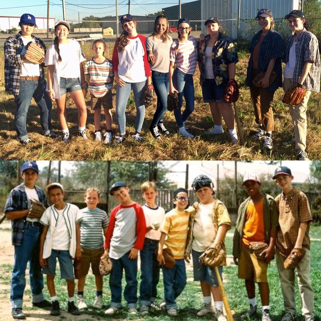 Girls can do anything boys can. The Sandlot sisters