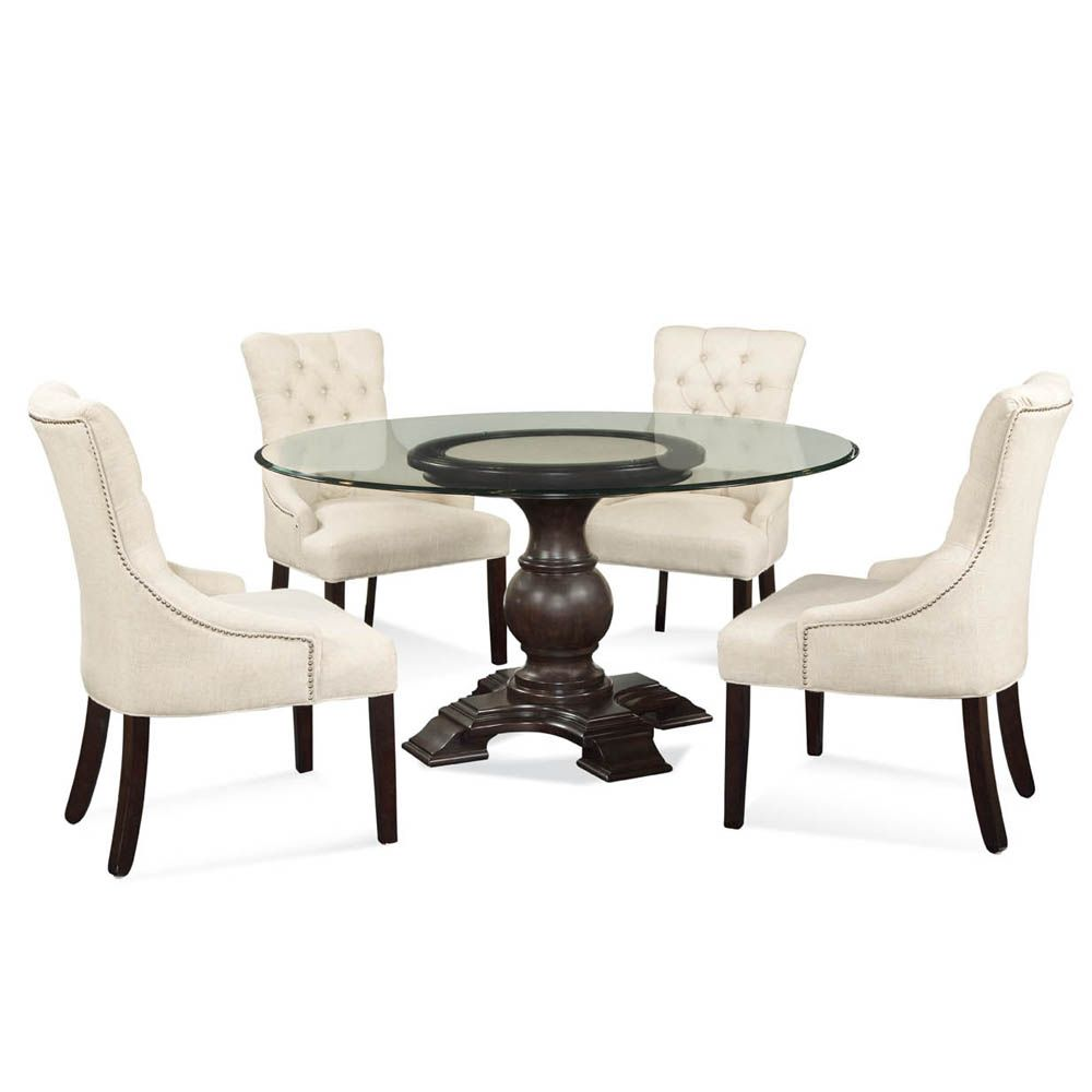 Round Glass Top Pedestal Dining Table Glass Round Dining Table