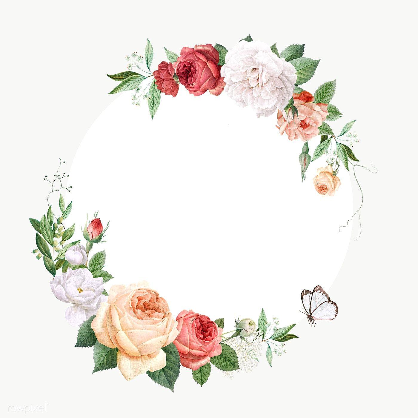 Floral Wedding Invitation Mockup Transparent Png Premium Image By Rawpixel Com Por Piangp Floral Border Design Floral Wedding Invitations Invitation Mockup