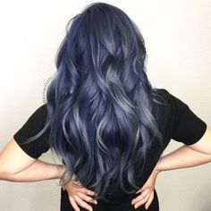 Navy And Grey Balayage Hair Styles Smoke Hair Dyed Hair