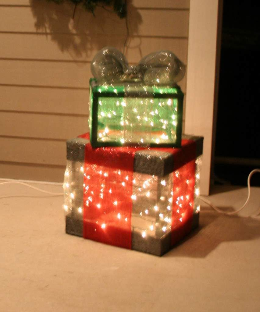 How To Make Your Own Outdoor Lighted Gift Boxes