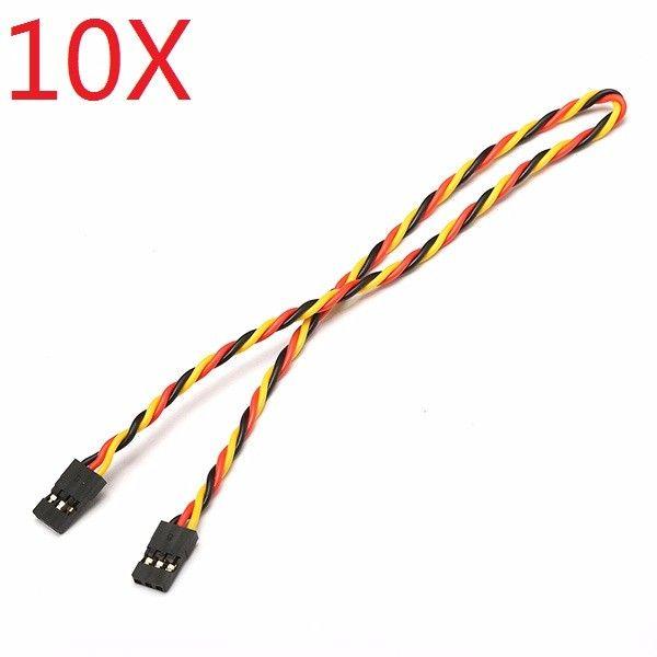 10X 22AWG 60 Core 30cm Male to Male Futaba Plug Servo Extension Wire Cable Twist
