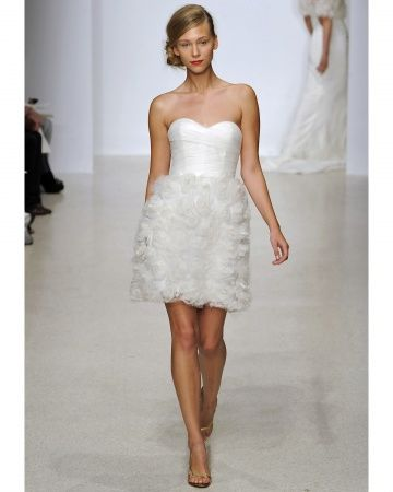 Super fun, flirty and short wedding dress by Amsale, Spring 2013  via www.weddingsandwellies.com/blog