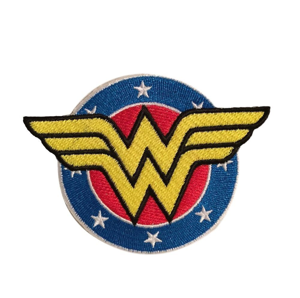 """Wonder Woman New Logo 3 1//2/"""" Wide Embroidered Iron on Patch"""