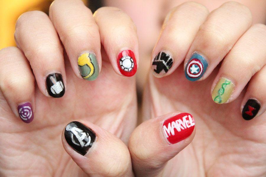 Avengers Nails by xcalixax.deviantart.com on @deviantART | Things ...