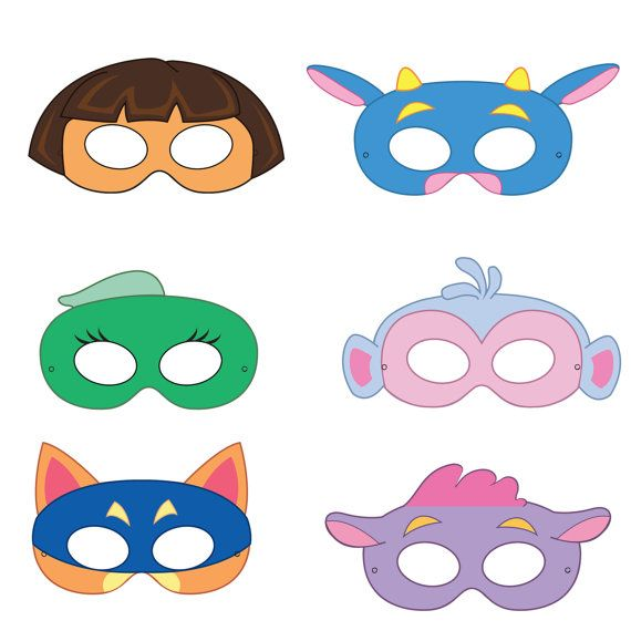 Dora the Explorer Inspired Printable Masks
