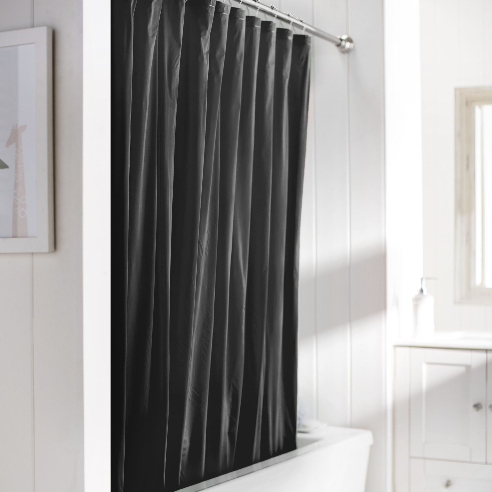 Wayfair basics vinyl shower curtain liner products pinterest