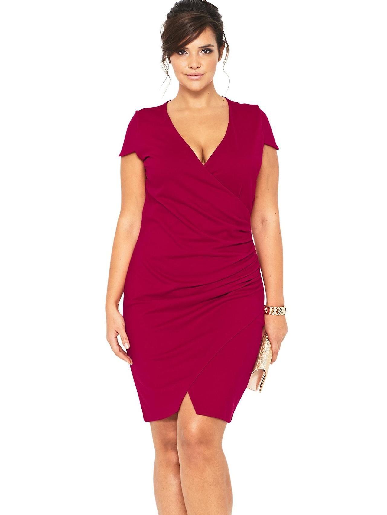 1f755104d6d016 Emma 36D bust, 31 inch waist, 44 inch hips So Fabulous Wrap Ponte Dress at  Littlewoods (via Shopstyle UK)