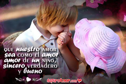 Imagenes De Ninos Enamorados Para Dedicar Un Amor Puro Las Mejores
