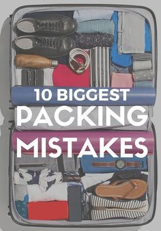 10 Biggest Packing Mistakes Those unexpected baggage fees and run-ins with the TSA? Totally preventable. Our friends at Smarter Travel give us the scoop on how to avoid 10 all-too-common slip-ups