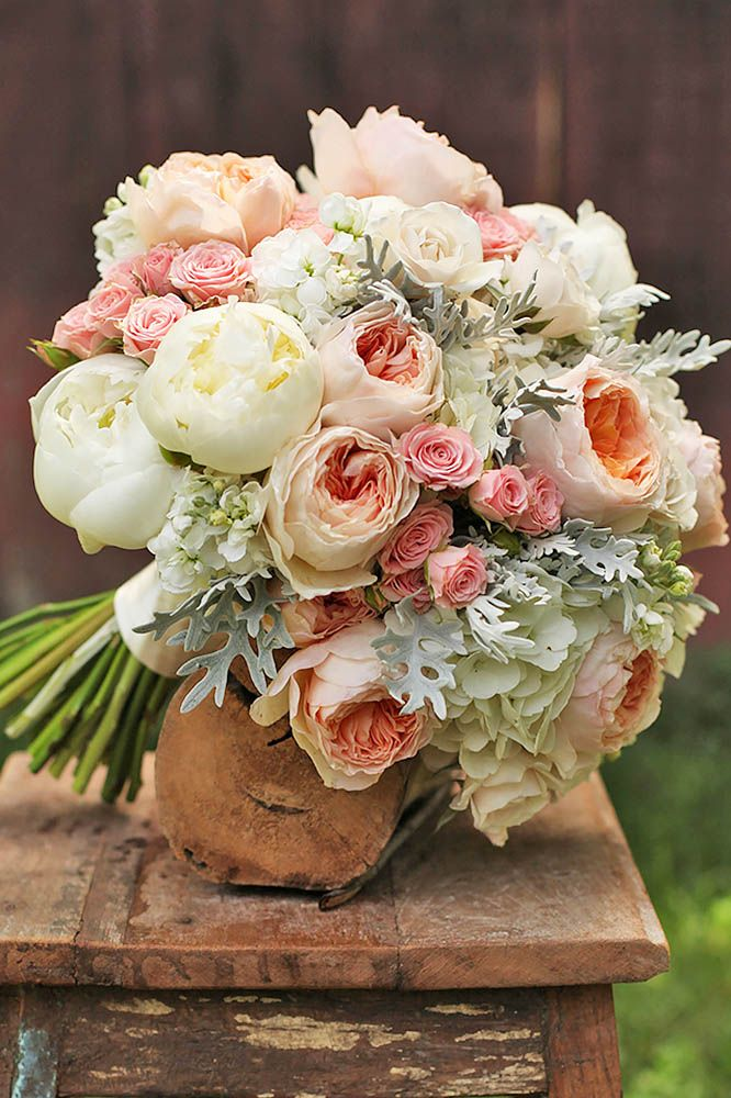 18 Glamorous Blush Wedding Bouquets That Inspire ❤ See more: http://www.weddingforward.com/blush-wedding-bouquets/ #weddings #bouquets