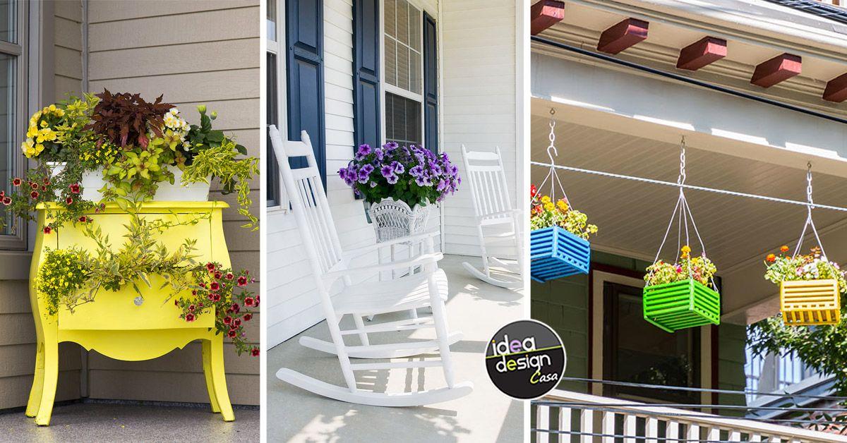 Decorare il portico per la primavera! 15 idee in fiori ...