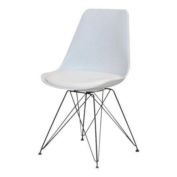 stuhl in metall kunststoff textil wei st hle esszimmer wohn esszimmer produkte. Black Bedroom Furniture Sets. Home Design Ideas