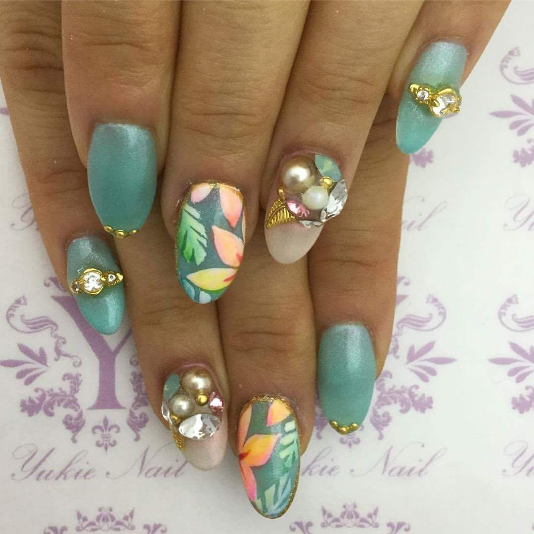 60 pretty summer nails to give a punch to your summer style oval 60 pretty summer nails to give a punch to your summer style do it yourself solutioingenieria Image collections