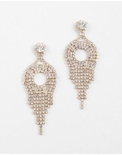 Chantelle Chandelier Pave Drop Gold