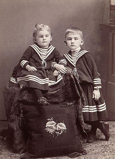 87c7f41847 Victorian children in sailor clothes   little sailors   Vintage ...