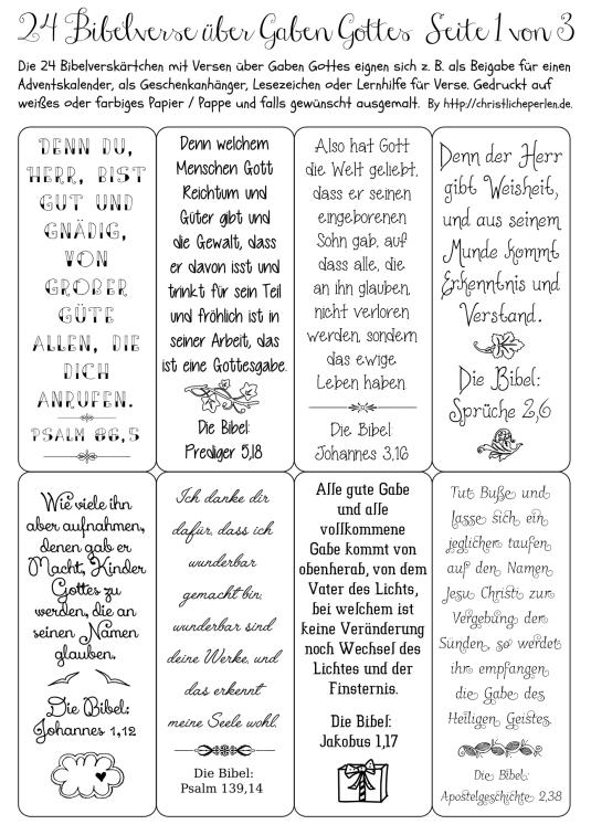 24 Bibelverse Z B Fur Einen Adventskalender Adventkalender Adventskalender Spruche Adventskalender