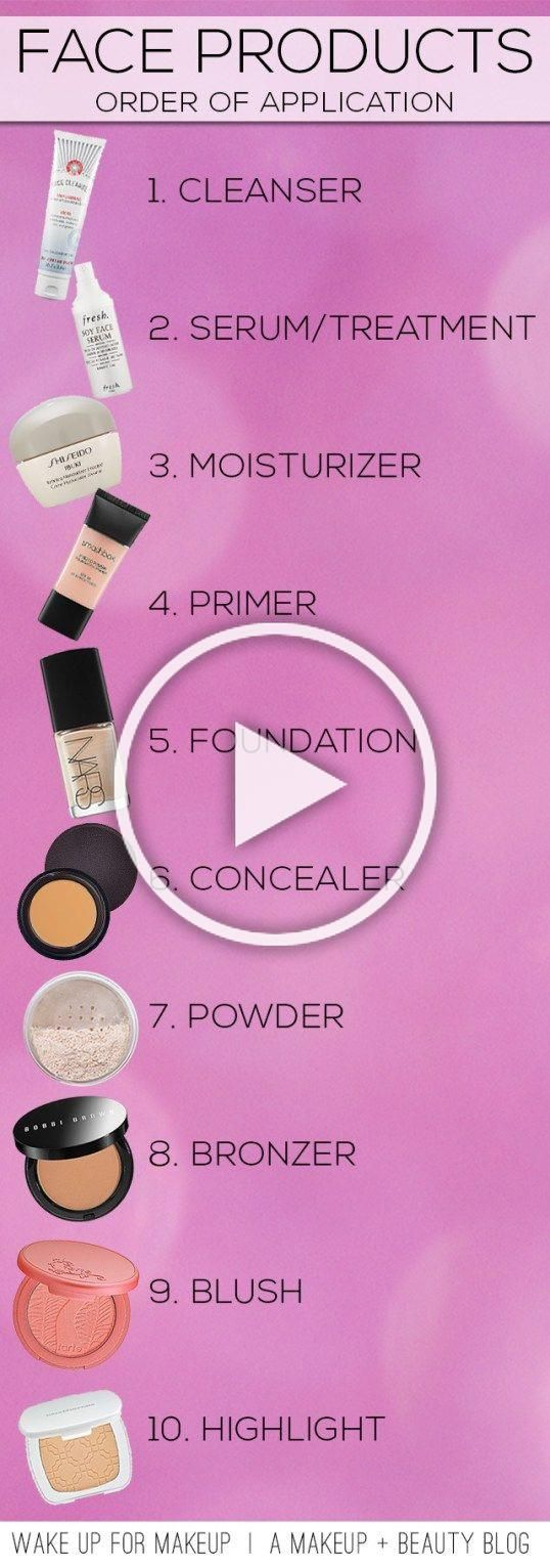 There are 10 fbjjghking steps to putting on makeup!!? in