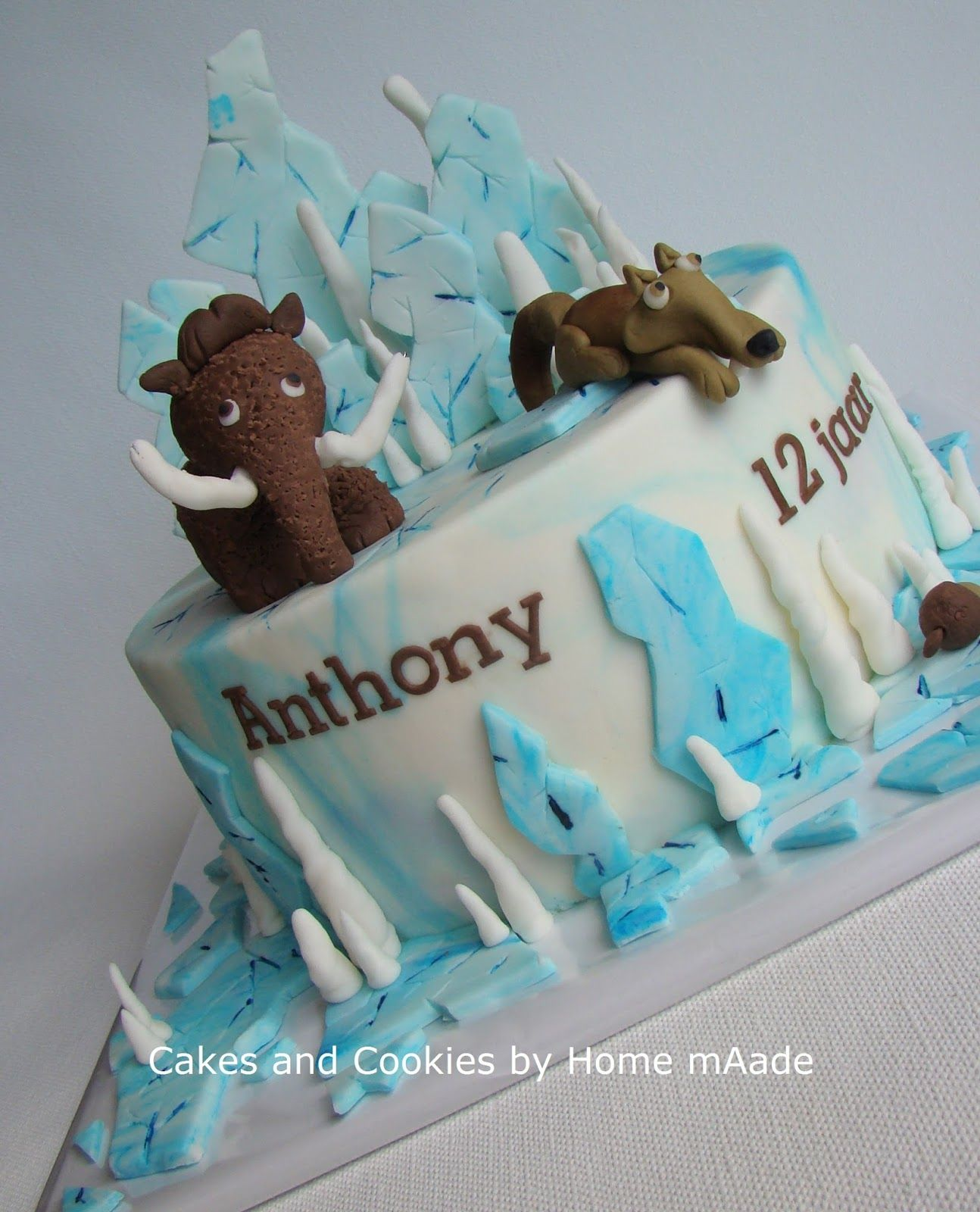 ice age taart Cakes and Cookies by Home mAade: Ice Age taart voor Anthony | Ice  ice age taart