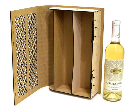 Wine Box Winebox V7 Wood Wine Box Plywood Wine Box Vine Etsy Wood Wine Box Wine Box Wine Gift Boxes