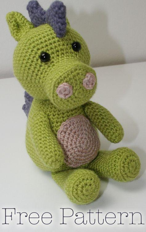 Free Crochet Dragon Pattern By Loris Stuff Pinterest Crochet