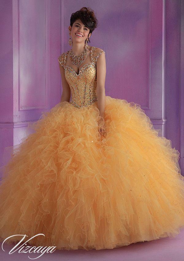 Mori Lee Quinceanera Dress 89014 GOLD | vestidos de 15 | Pinterest