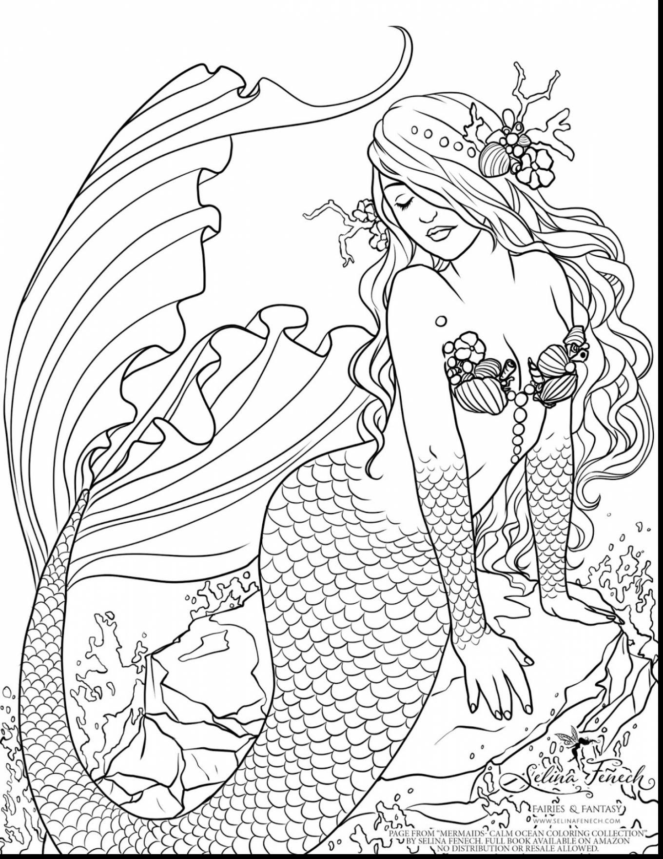 Free Printable Coloring Pages For Adults Mermaids Gallery