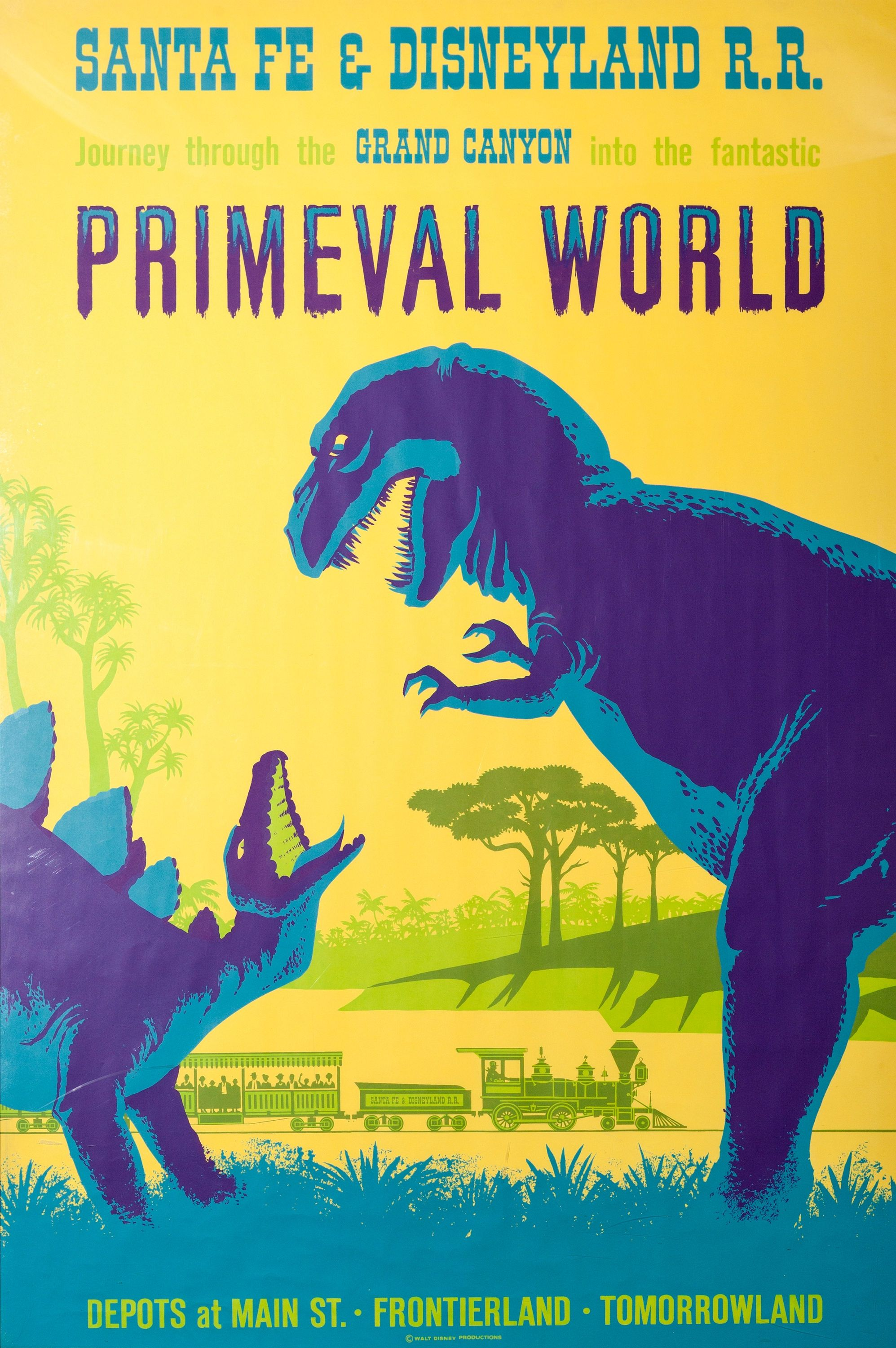 Disneyland Poster Primeval World Available in 5 Sizes