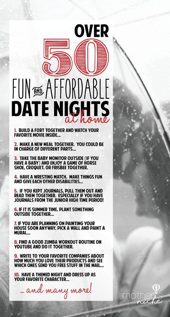 Date Nights at Home: Over 50 fun and Affordable Ideas ...