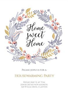 Fresh Start  Printable Housewarming Invitation Template  D
