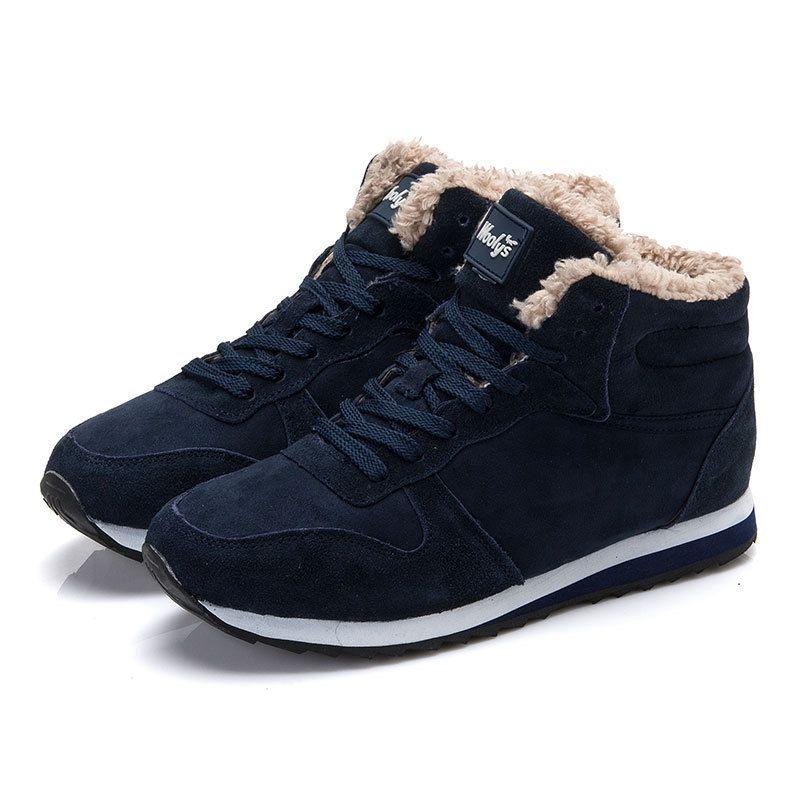 Das Mulheres dos homens de Sapatos Femininos Botas de Inverno Botas De Homens Preto Azul Dos Homens Rendas Até Sapatos de Pele do Inverno Mulher botas de Neve Tornozelo em Botas das mulheres de Sapatos no AliExpress.com   Alibaba Group