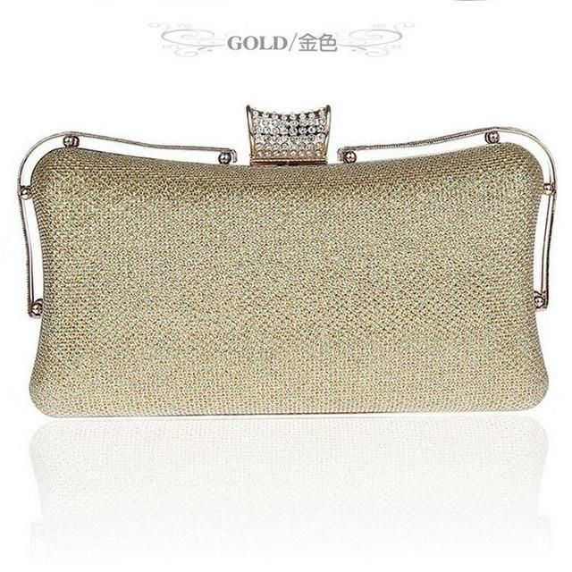 Gold Silver Evening Clutch Bags Black Red Wedding Purse Day Clutches Party Bag Handbag For