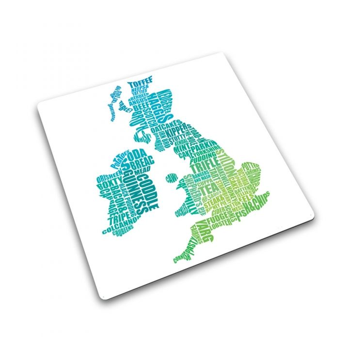 Joseph Joseph UK Gastronomy Map | Toughened Glass Worktop Saver