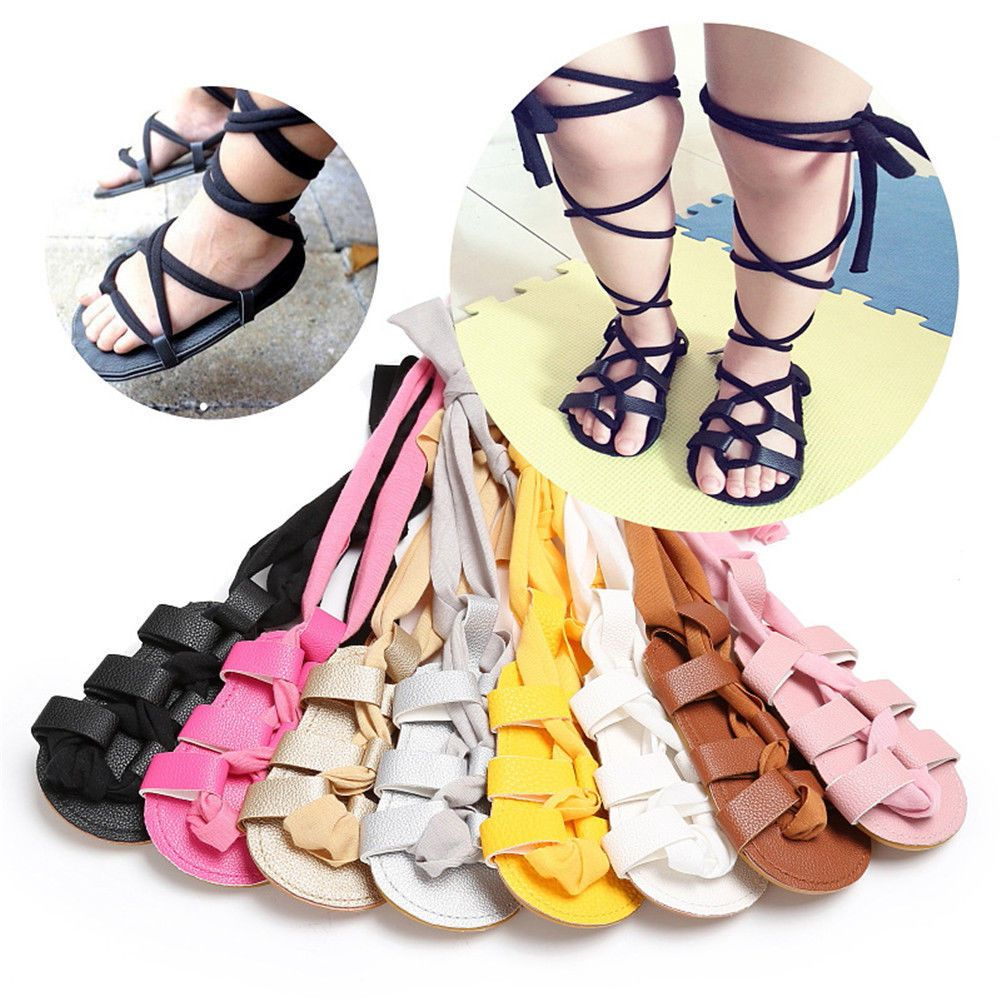 23ae764ffbdde1  4.99 - Charming Toddler Infants Girls Leather Gladiator Soft Sandals  Fringe Shoes  ebay  Fashion.  5.12 - Kid Baby Girl Knee High Strappy Flat  Summer ...