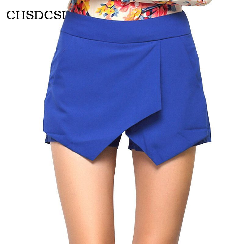 Casual Womens Wrap Mini Skorts Asymmetric Tiered Neon Culottes Shorts Short Summer Geometric Criss-Cross Shape shorts Plus Size