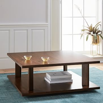 Enzo Corner Table Dark Walnut at West Elm Coffee Tables Home