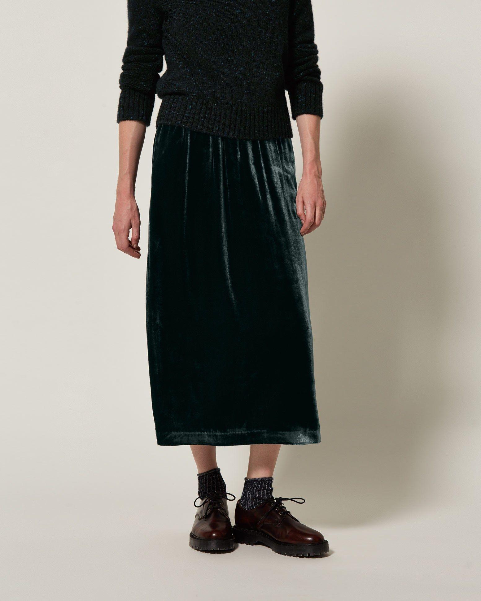 040971857b Silk Velvet Skirt Glitter Stripe Socks Solovair Laura Derby Shoes Cropped  Linen Trousers, Pleated Skirt