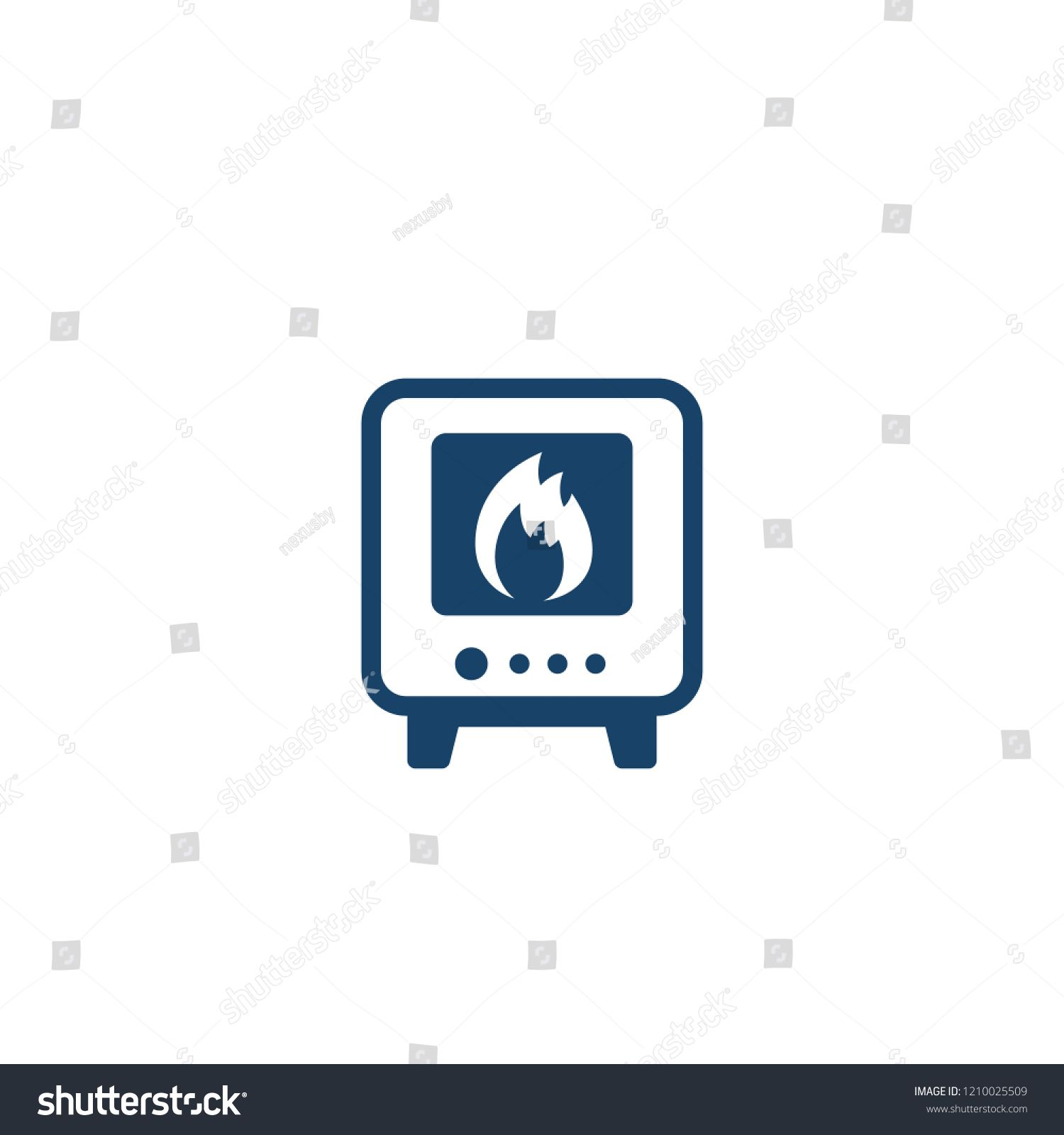 Industrial Oven Icon Vector Sponsored Ad Oven Industrial