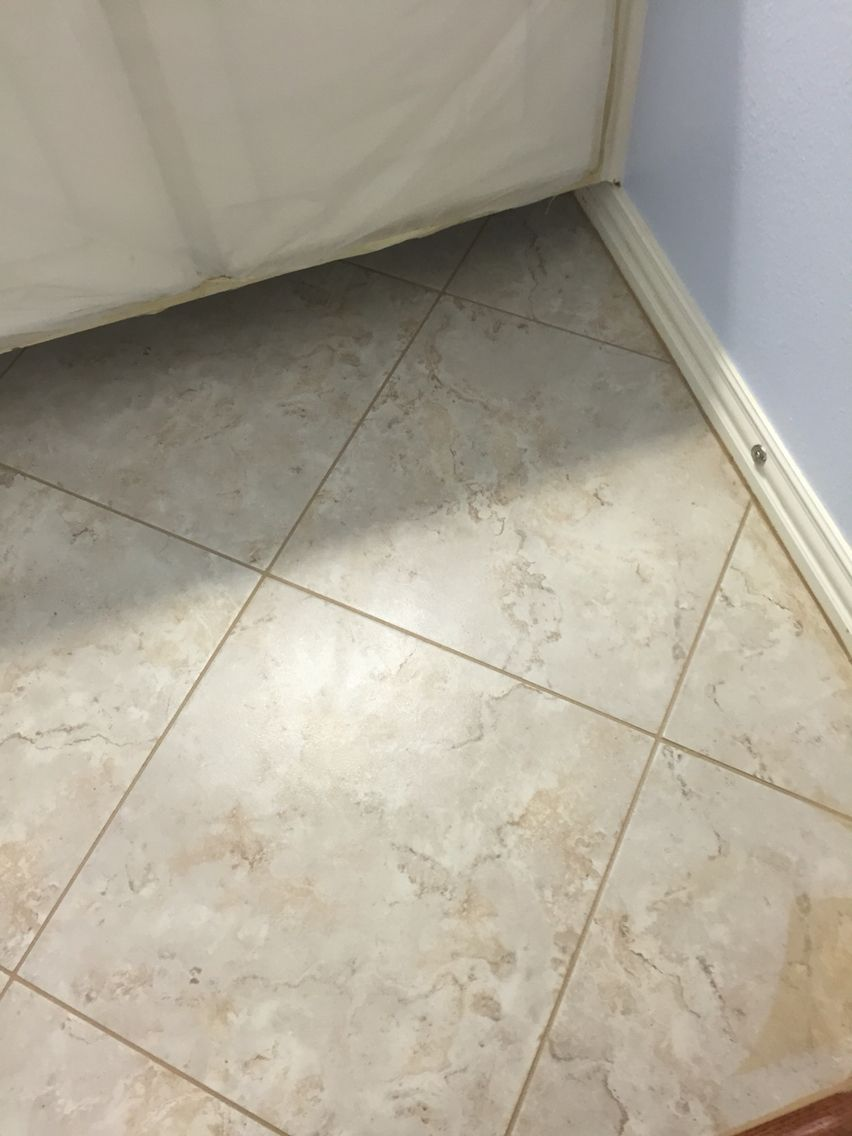 20x20 Laid On Diagonal In Small Bathroom