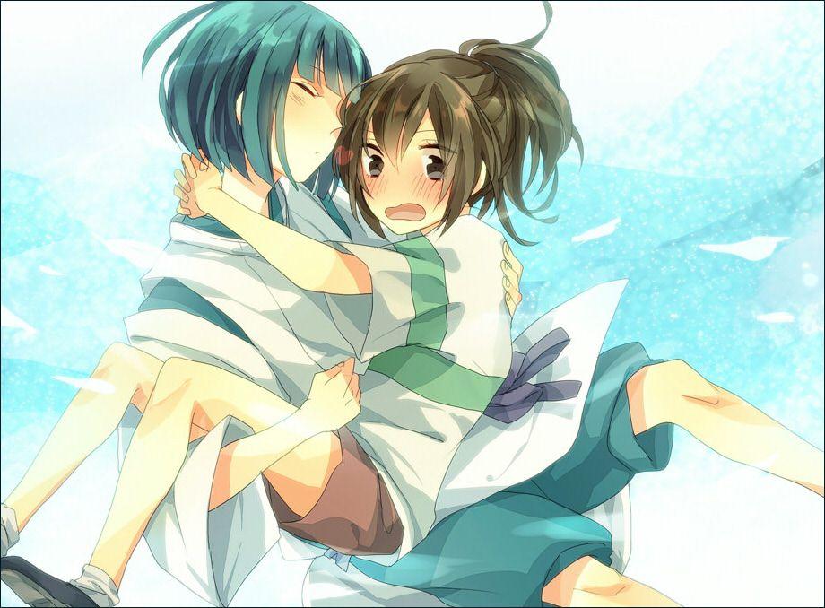 Spirited Away 1346705 Zerochan Hayao Miyazaki Studio Ghibli Ogino Chihiro And Haku イラスト スタジオジブリ ジブリ