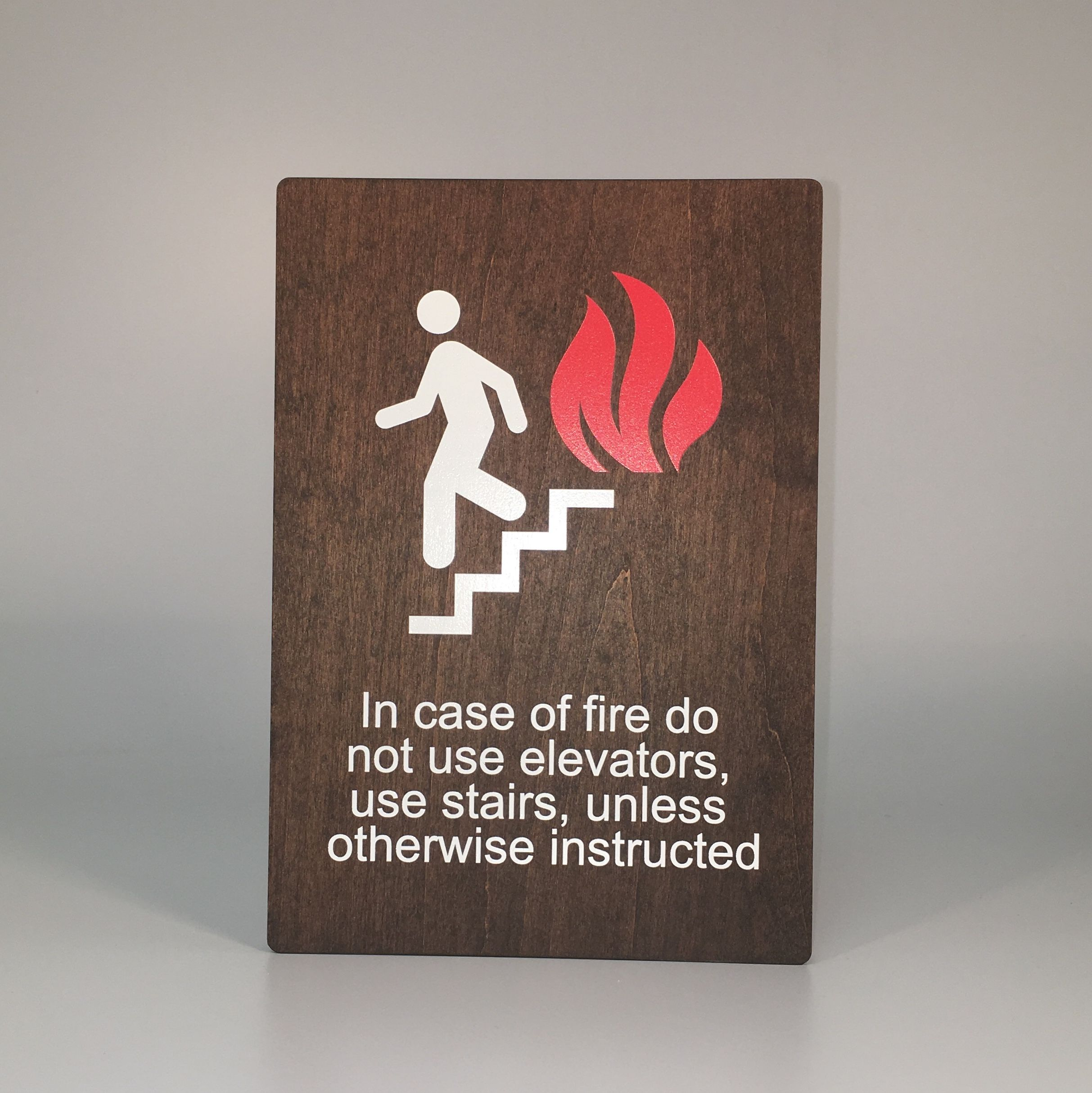 In Case Of Fire Use Stairway Sign Ful 01 Ada Signage Stairways Signage