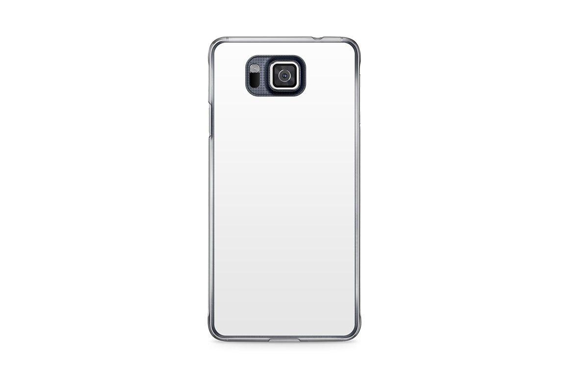 Samsung Galaxy Alpha Mobile Clear Case Design Mockup PSD