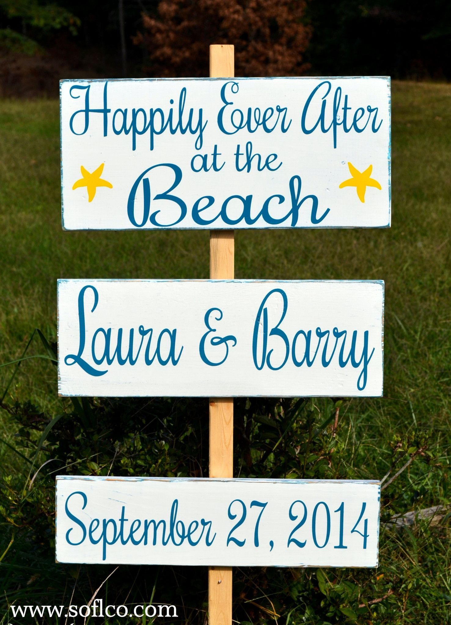 arrow directional wedding signs hand painted custom colors large