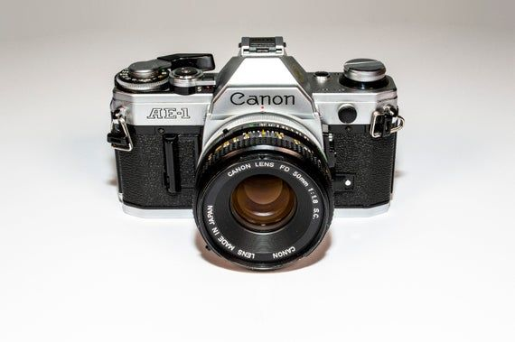 Canon AE-1 35mm Film SLR Camera and Canon 50mm f. 1.8 Lens *TESTED*