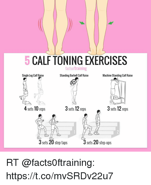 Image Result For Factsoftraining Calf Exercises Toning Workouts Slim Calves