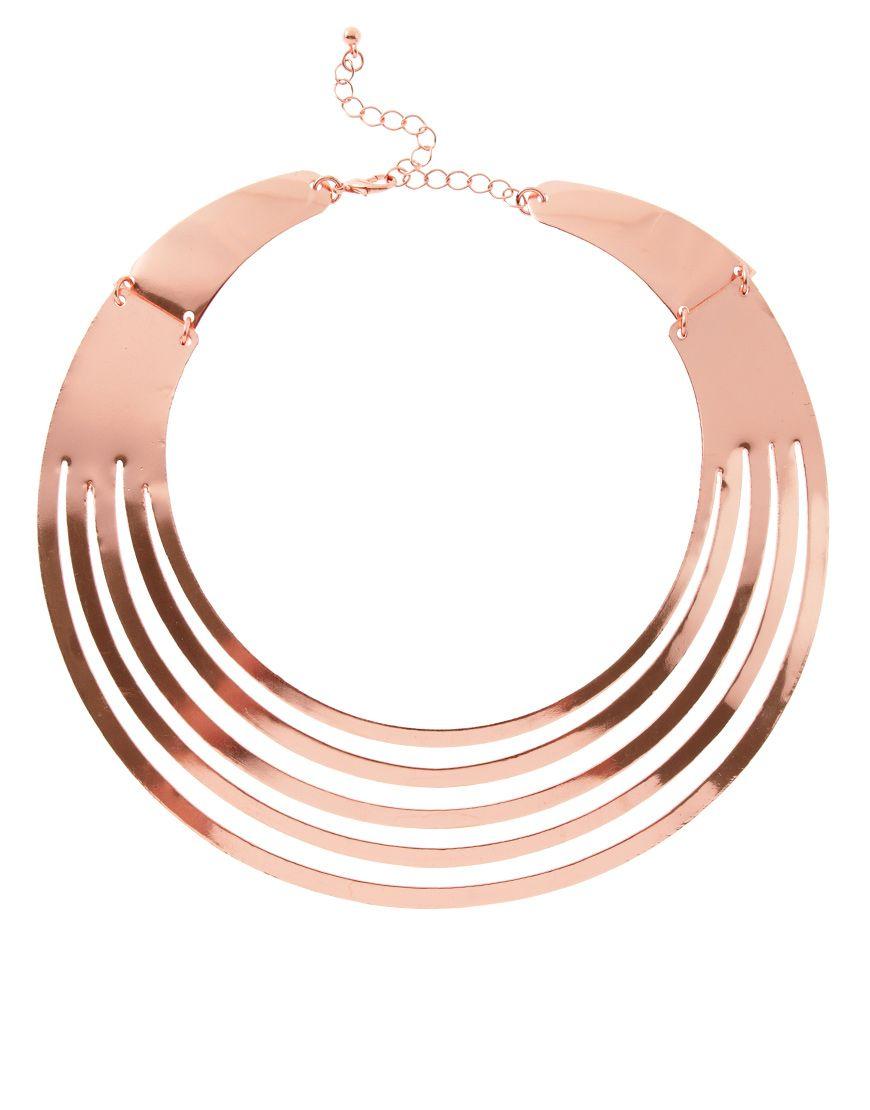 Rose Gold Torque Necklace